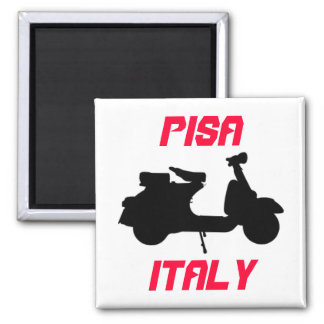 Scooter, Pisa, Italy Square Magnet