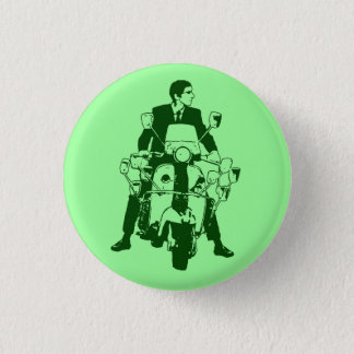 Scooter Rider 2010 green 1 Inch Round Button