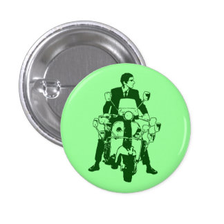 Scooter Rider 2010 green 1 Inch Round Button