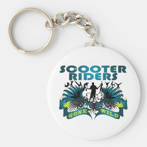 Scooter Riders Gone Wild Keychain