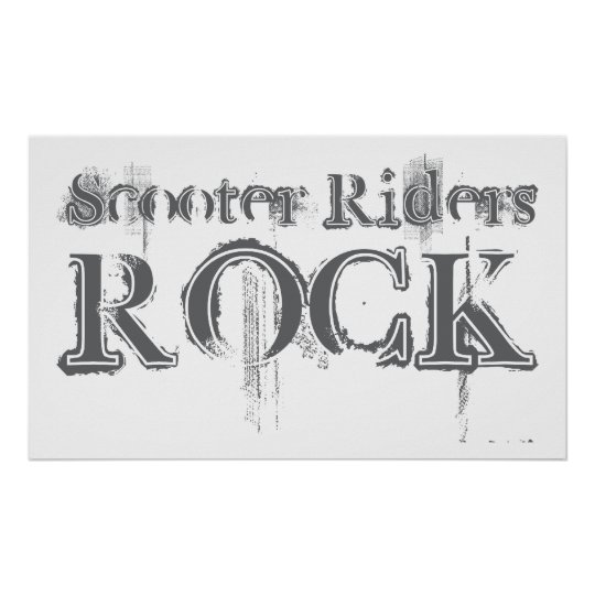 Scooter Riders Rock Poster