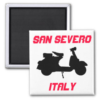 Scooter, San Severo, Italy Square Magnet