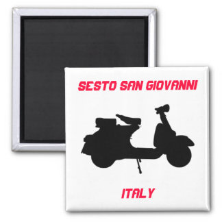 Scooter, Sesto San Giovanni, Italy Square Magnet