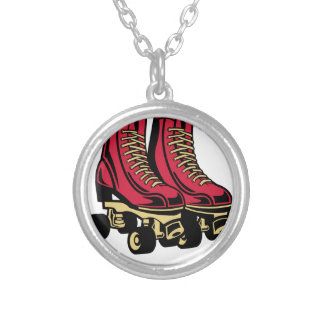 SCOOTER SKATES SILVER PLATED NECKLACE