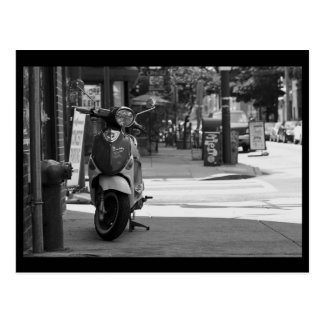 Scooter South Street BW Postcard