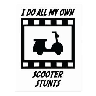 Scooter Stunts Postcard