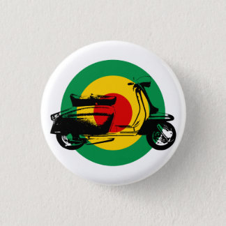 Scooter Target Rasta 1 Inch Round Button