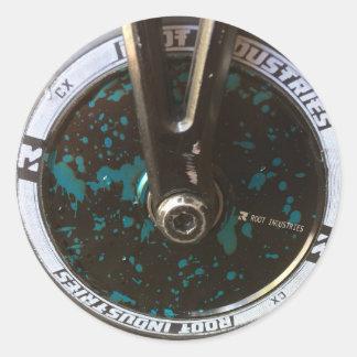Scooter Wheel Classic Round Sticker