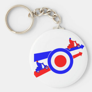 Scooters Arrows and Target Basic Round Button Keychain
