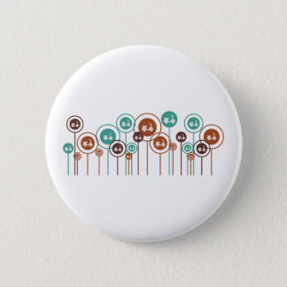 Scooters Daisies 2 Inch Round Button