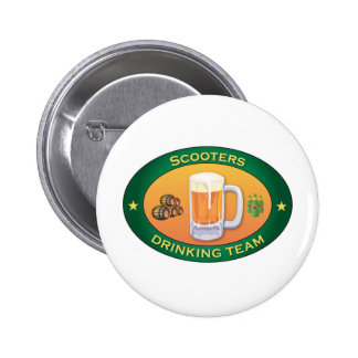 Scooters Drinking Team 2 Inch Round Button