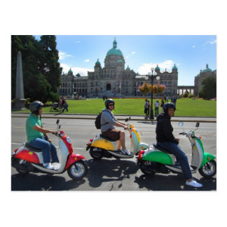 Scooters in Victoria Postcard
