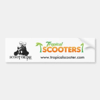 ScootOrDie, logo_02, www.tropicalscooter.com Bumper Sticker