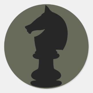 Scope Cap Sticker, Black Knight Chess Piece Classic Round Sticker