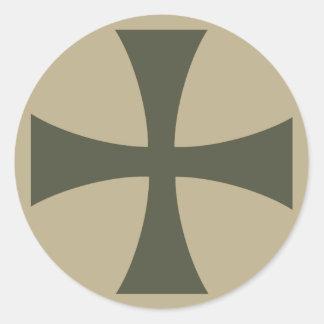 Scope Cap Sticker, Knights Templar Cross, Style 3