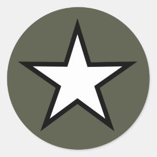 Scope Cap Sticker, Star Round Sticker