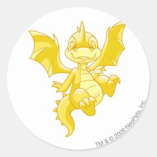 Scorchio Gold Classic Round Sticker