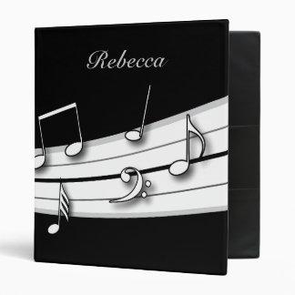 Score noir et blanc gris de notes musicales classeurs 3 anneaux