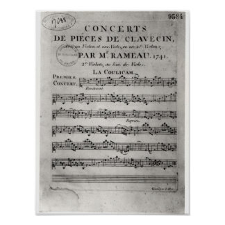Score sheet for 'Concerts de Pieces de Poster