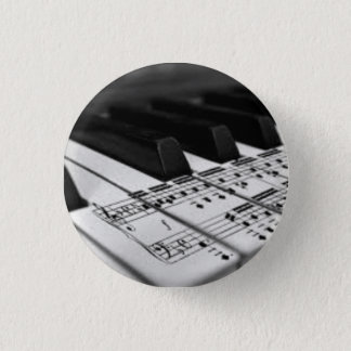 Scored on the Piano 1 Inch Round Button
