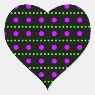 scored polka dots dabs sample scores heart sticker