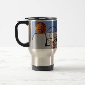 Scoring Points At Basketball, Travel Mug