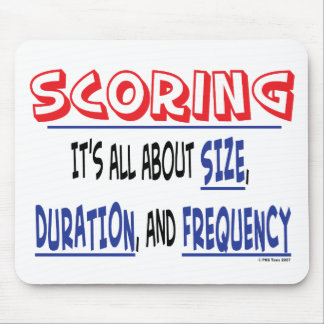 Scoring - Size, Duration, and Frequency Mousepad