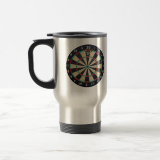 Scoring Triple Twenty At Darts, Travel Mug