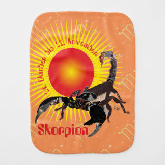 Scorpio 24 October until 22 November spitting Baby Burp Cloth