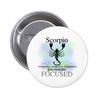 Scorpio About You 2 Inch Round Button