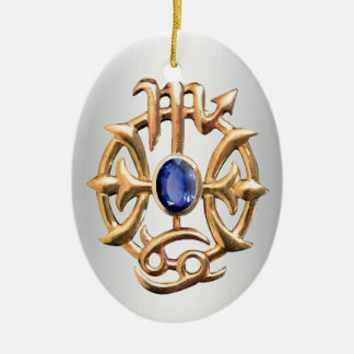 Scorpio and Pisces Medallion Ceramic Ornament