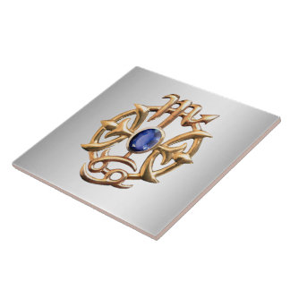 Scorpio and Pisces Medallion Tile