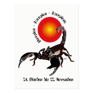 Scorpio asterisk postcard