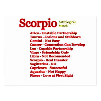 Scorpio Astrological Match The MUSEUM Zazzle Gifts Postcard