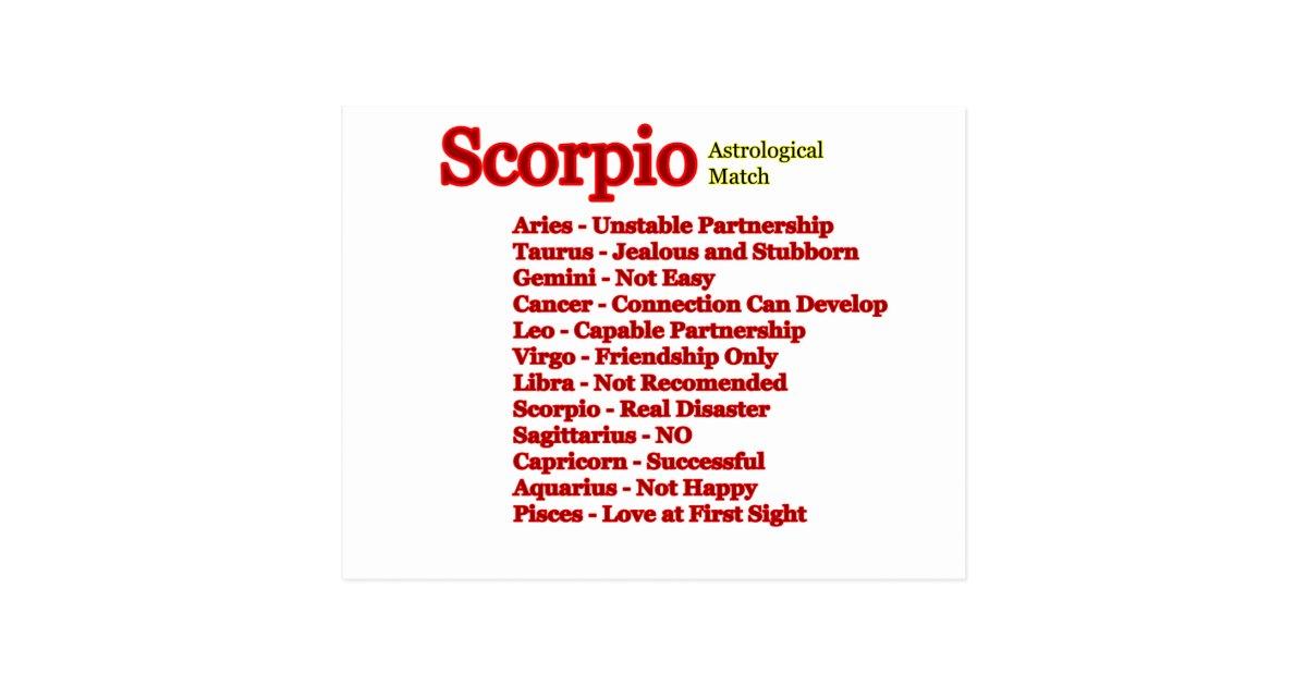Scorpio Astrological Match The MUSEUM Zazzle Gifts Postcard | Zazzle ca