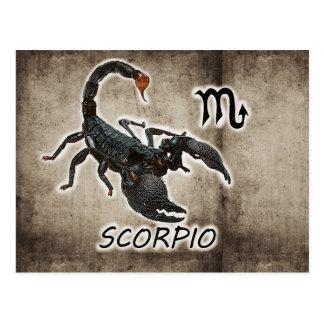 scorpio astrology 2017 postcard