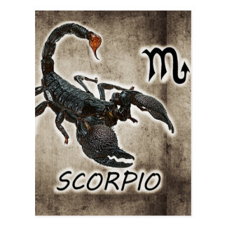 scorpio astrology 2017 postcard