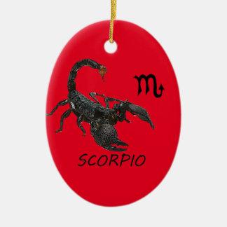 Scorpio astrology ceramic ornament