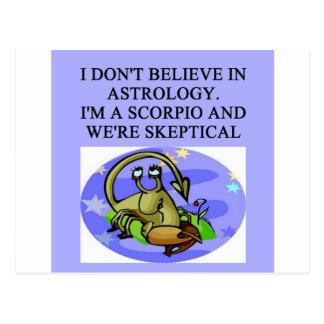 SCORPIO astrology joke Postcard