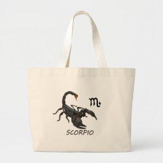 Scorpio astrology large tote bag