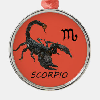 Scorpio astrology metal ornament