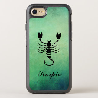 SCORPIO Astrology Star Sign Green OtterBox Symmetry iPhone 7 Case