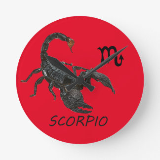 Scorpio astrology wall clocks