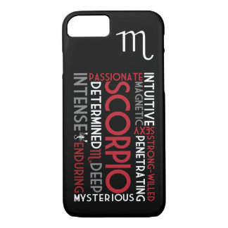 Scorpio Astrology Word Collage iPhone 7 case