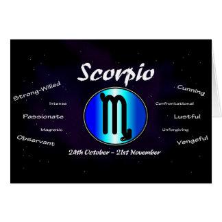 Scorpio Birthday Card