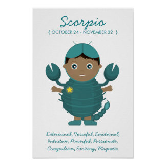 Scorpio - Boy Horoscope Poster