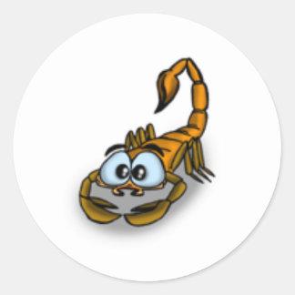 Scorpio Cartoon Classic Round Sticker