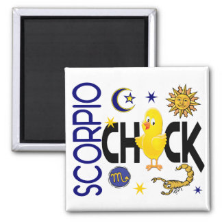 Scorpio Chick 1 Square Magnet