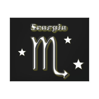 Scorpio chrome symbol canvas print