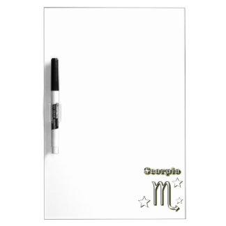 Scorpio chrome symbol dry erase board